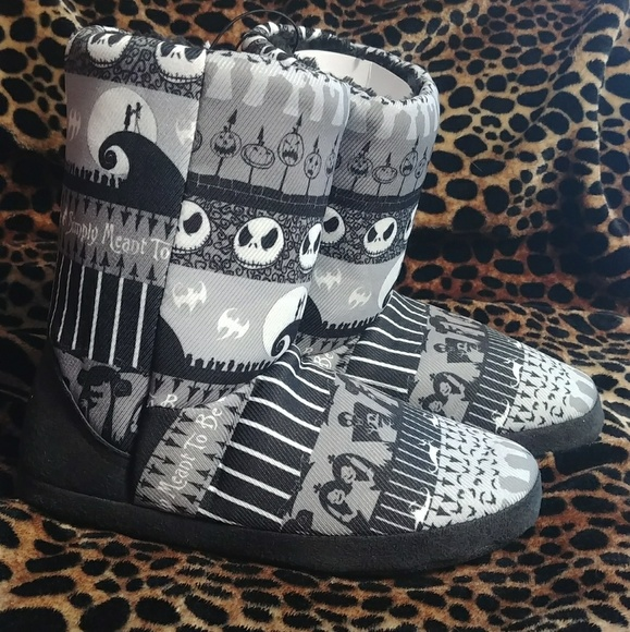 c858c9f90ad Nightmare Before Christmas Slipper Boots. NWT. Disney